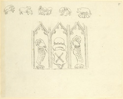 St Alban's Abbey, sculptural details f.27
